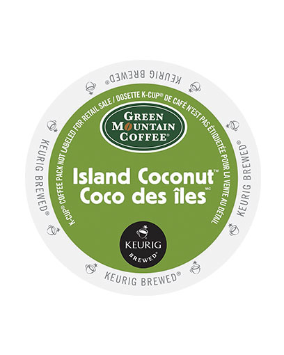 kcups green mountain island coconut