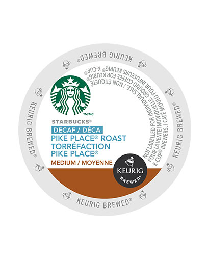 kcups starbucks decaf pike place roast