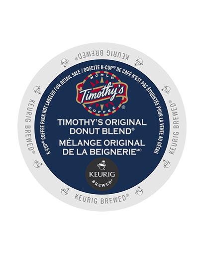 kcups timothys donut blend