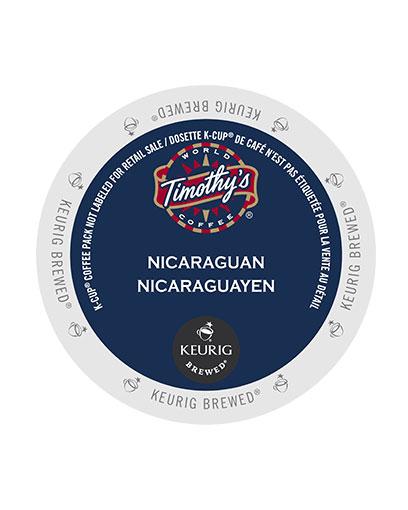 kcups timothys nicaraguan