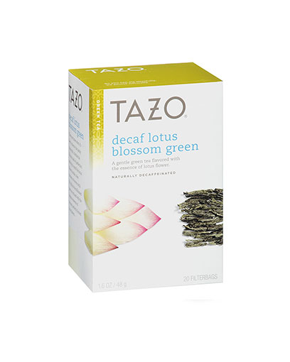 tazo tea bags lotus decaf green 24 s the brew centre
