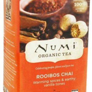 NUMI ORGANIC TEA BAGS ROOIBOS CHAI 18's