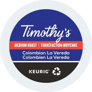 Timothy's Colombian La Vereda K-Cups