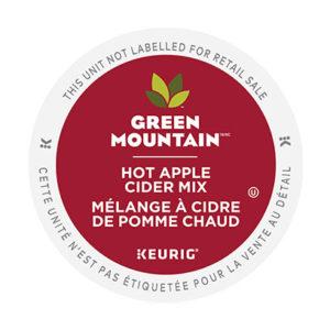 kcup green mount hot apple cider mix