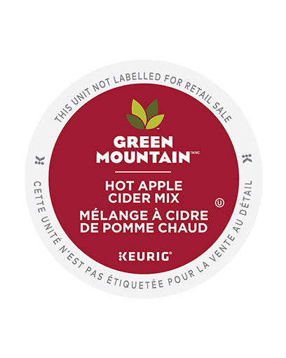 kcup green mount hot apple cider mix