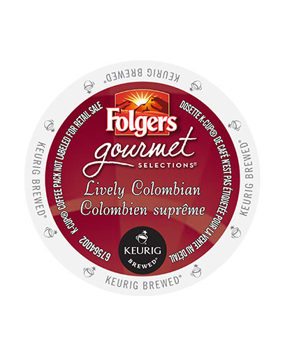 kcups folgers gourmet selections lively colombian