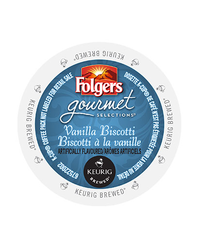kcups folgers gourmet selections vanilla biscotti