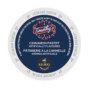 kcups timothys cinnamon pastry