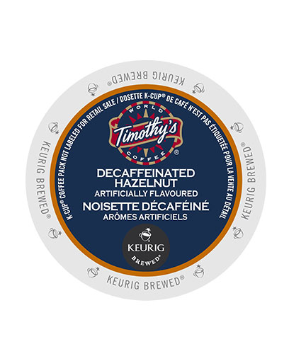 kcups timothys decaf hazelnut