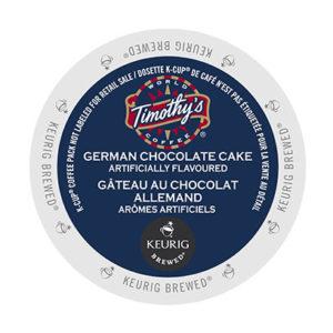 kcups timothys german chocolate cake