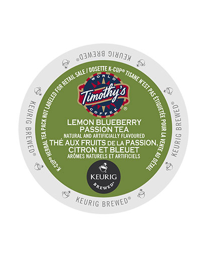 kcups timothys lemon blueberry passion tea