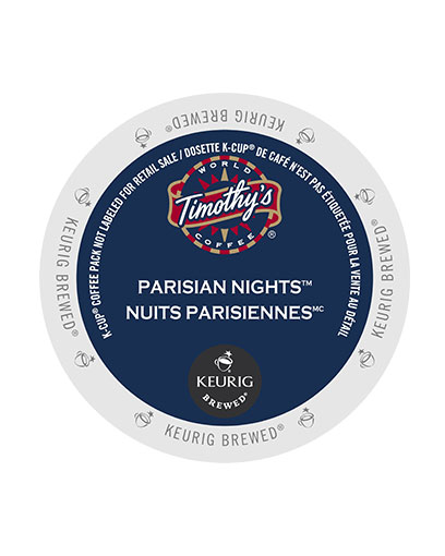 kcups timothys parisian nights