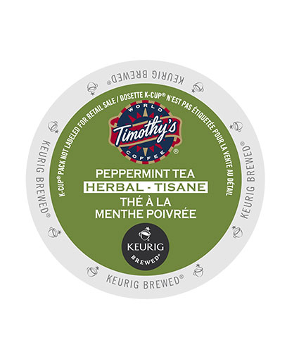 kcups timothys peppermint tea herbal