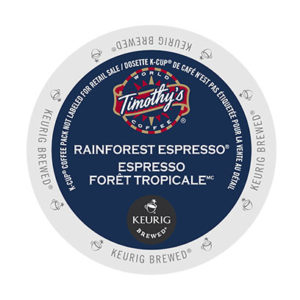 kcups timothys rain forest espresso