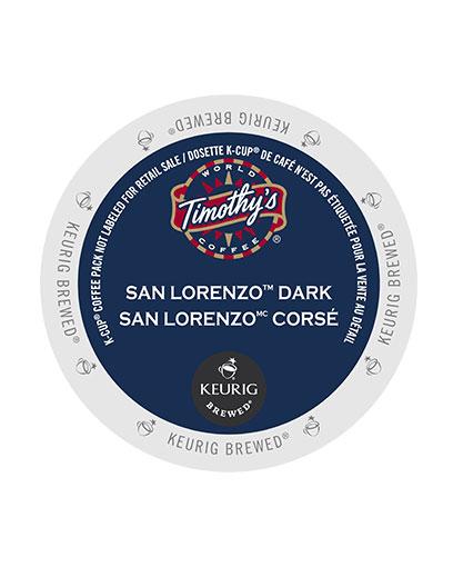 kcups timothys sanlorenzo dark