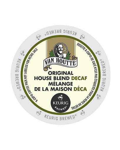 kcups vanhoutte original house blend decaf