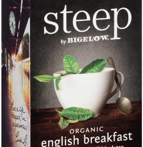 STEEP BY BIGELOW TEA BAGS ENGLISH BREAKFAST 20's