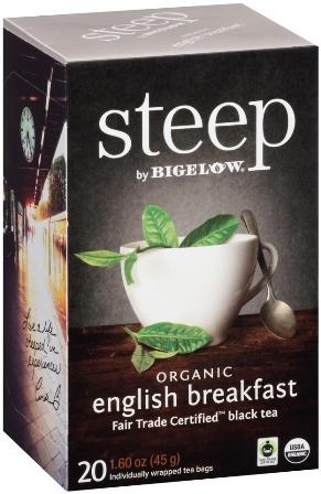 STEEP BY BIGELOW TEA BAGS ENGLISH BREAKFAST 20's