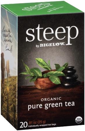 STEEP BY BIGELOW TEA BAGS PURE GREEN 20's