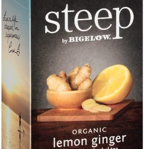 STEEP BY BIGELOW TEA BAGS LEMON GINGER 20's