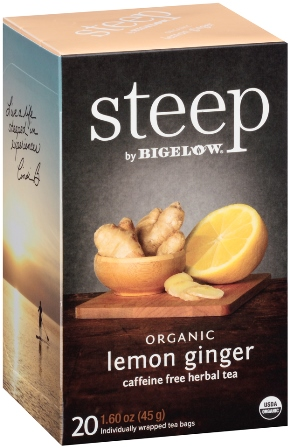 STEEP BY BIGELOW TEA BAGS LEMON GINGER 20's