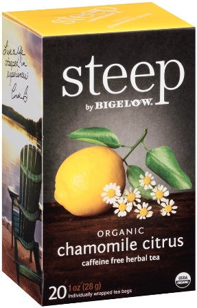 STEEP BY BIGELOW TEA BAGS CHAMOMILE CITRUS 20's