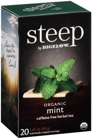 STEEP BY BIGELOW TEA BAGS MINT 20's