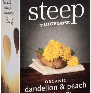 STEEP BY BIGELOW TEA BAGS DANDELION & PEACH, ROOIBOS & GREEN 20's
