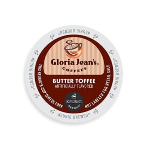 K-CUP GLORIA JEAN'S BUTTER TOFFEE 24's