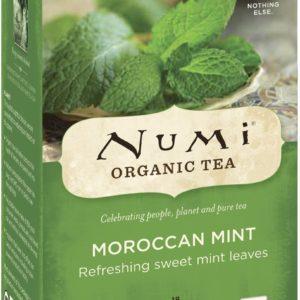 NUMI ORGANIC TEA BAGS MOROCCAN MINT 18's