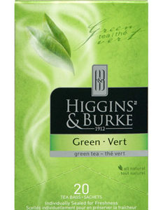 HIGGINS & BURKE TEA BAGS GREEN 20's