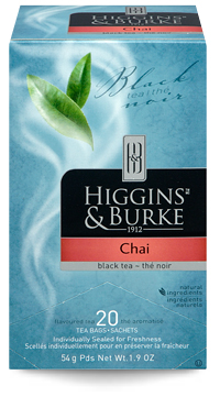 HIGGINS & BURKE TEA BAGS CHAI 20's