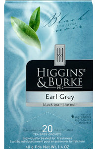 HIGGINS & BURKE TEA BAGS EARL GREY 20's