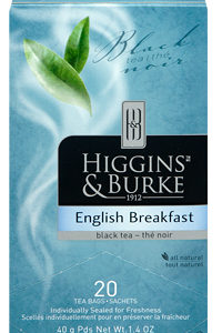 HIGGINS & BURKE TEA BAGS ENGLISH BREAKFAST 20's