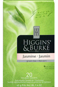 HIGGINS & BURKE TEA BAGS JASMINE GREEN 20's