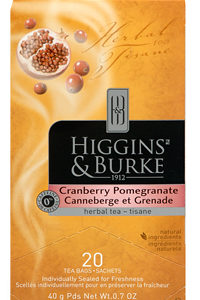 HIGGINS & BURKE TEA CRANBERRY POMEGRANATE GREEN 20's