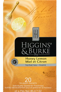 HIGGINS & BURKE TEA BAGS HONEY LEMON 20's