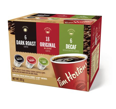 TIM HORTON'S VARIETY PACK SINGLE SERVE 30's